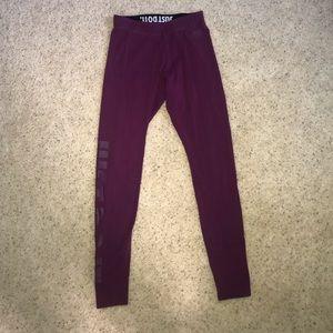 Purple cotton Nike leggings